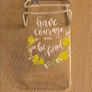 iPhone X/XS hard plastic snap on case w flowers